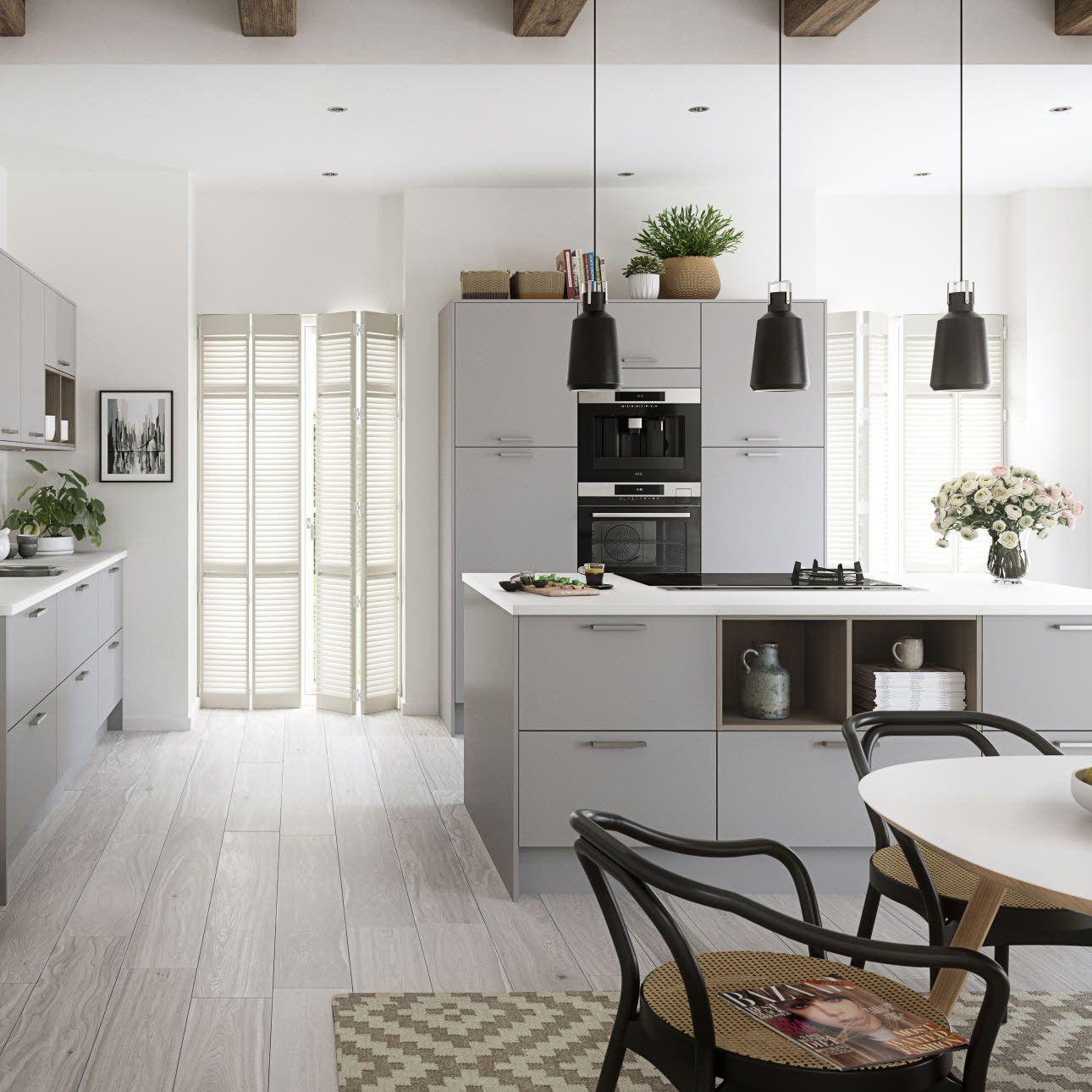 70+ Light Grey Kitchen Cabinets