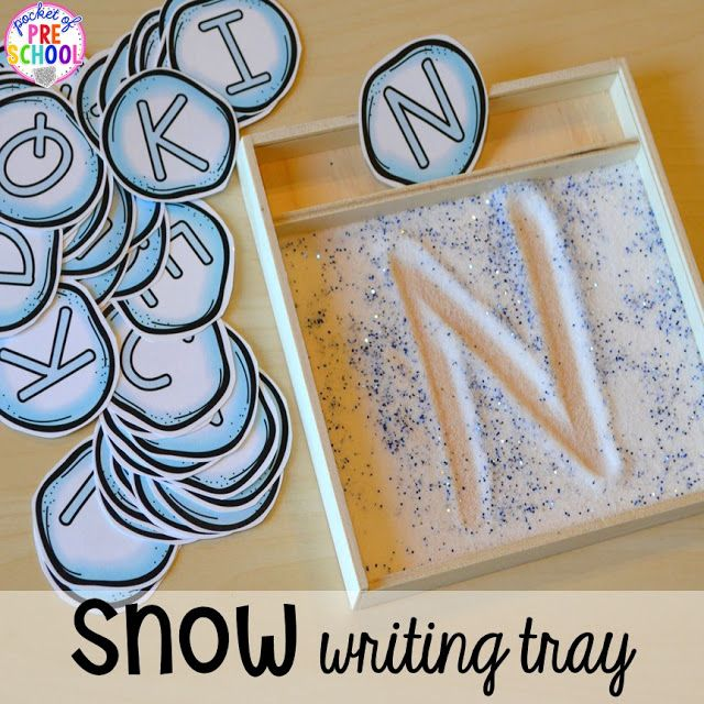 Winter Themed Activities and Centers (Snowman at Night Freebie too)! - Pocket of Preschool