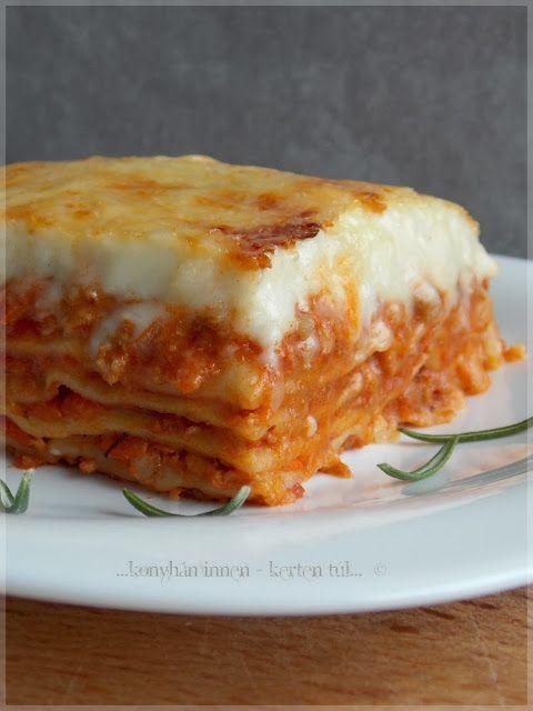 Klasszikus lasagne házi tésztával és sugoval