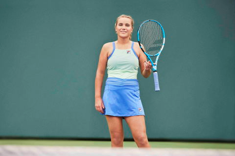 Karolina Pliskova Sofia Kenin Present Fila Colorful Play Collection For Australian Open 2020 Women S Tennis Blog In 2020 Flare Skirt Fila Fashion Ready