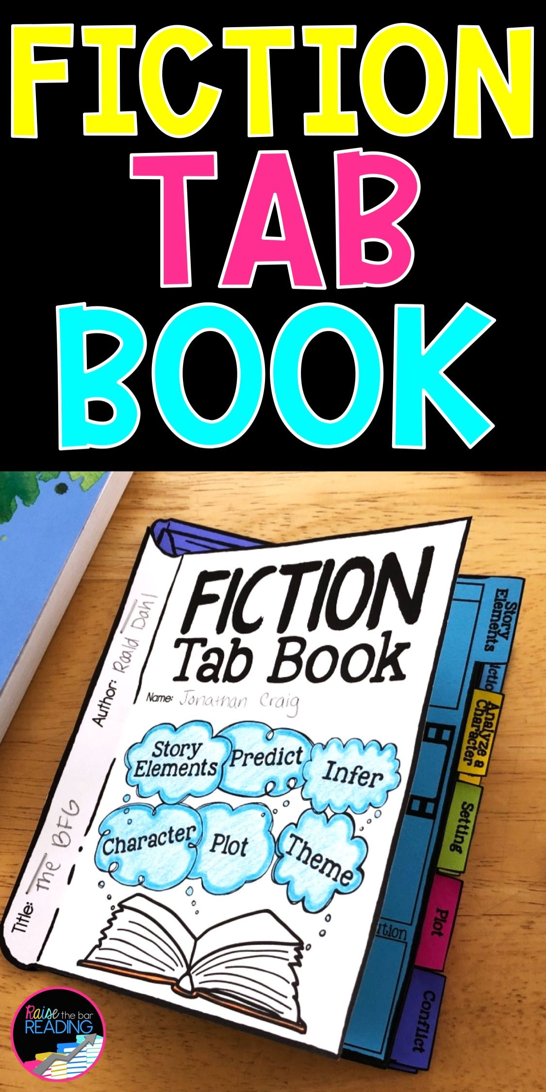 Fiction Tab Book Reading Comprehension Craft Story