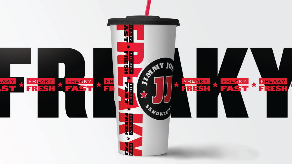 Brand New New Logo And Identity For Jimmy John S By Changeup In 2021 Identity Logo Starbucks Drinks Jimmy Johns