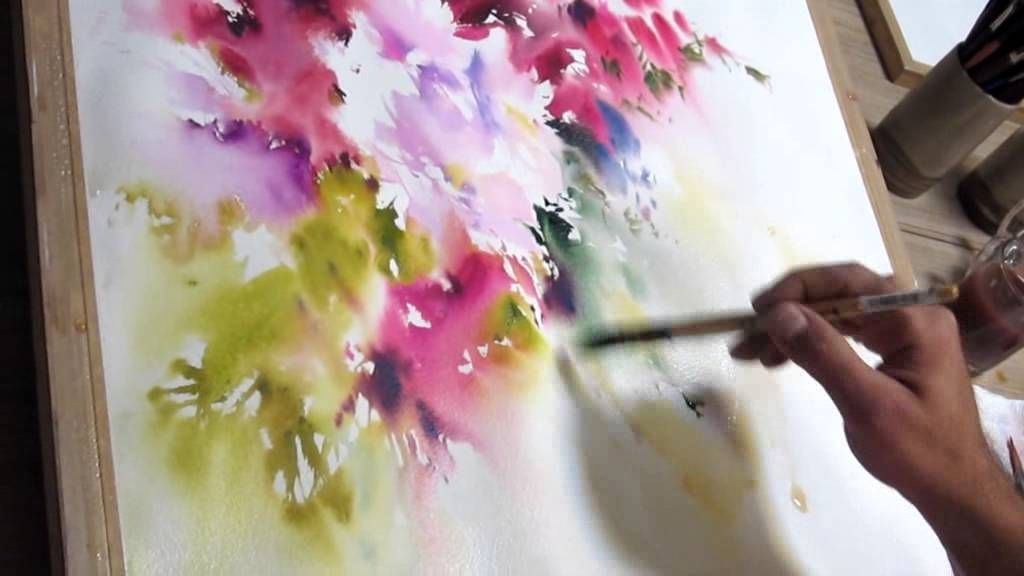Watercolor Flowers And Paint Brushes: Yazdchi Watercolor Painting (breathtaking What This Artist