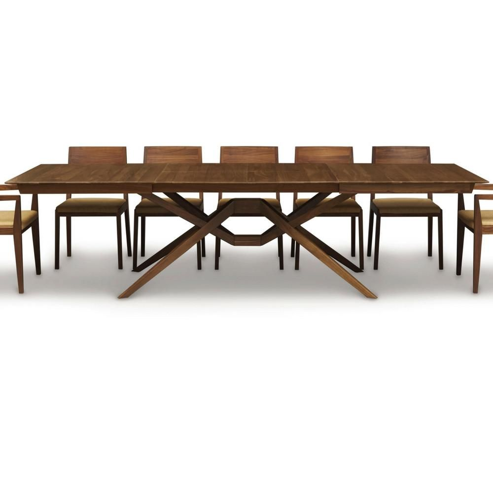 Copeland Furniture Exeter Dining Table Double Leaf Open