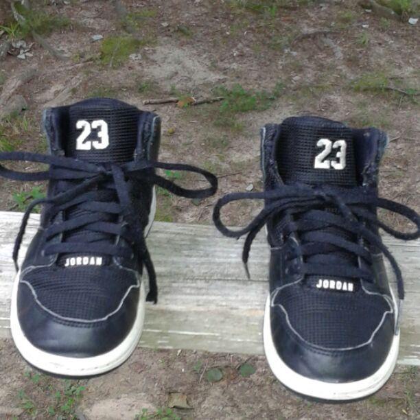 This is a used pair of Nike Jordan #23