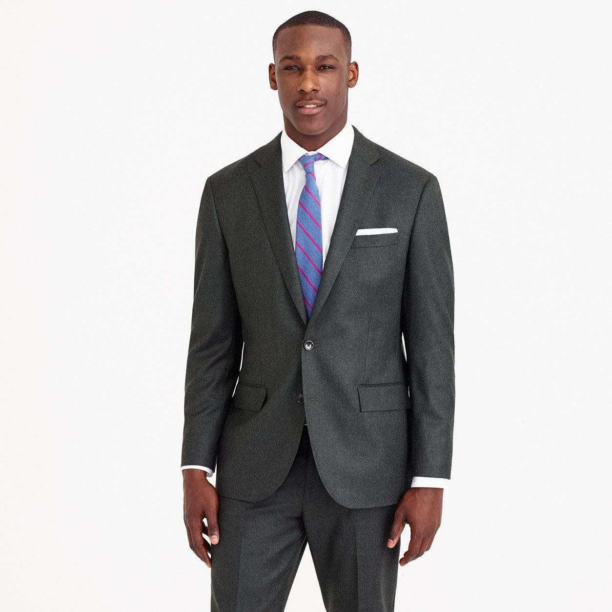 Men's outfits with flannel  JCrew Mens Crosby Suit Jacket In Heathered Italian Wool Flannel
