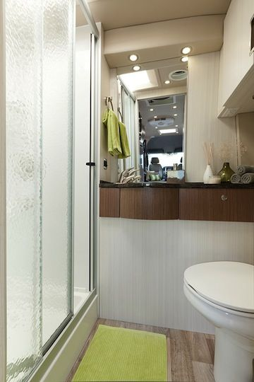 The Only Class B Motorhome With A Full Bath Corian Vanity