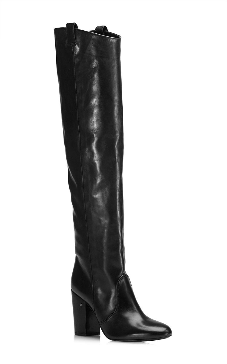 Silas Knee-High Leather Boots in Black by Laurence Dacade - Moda Operandi