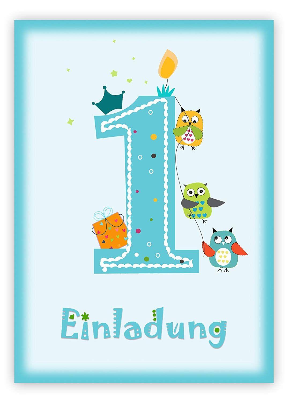 6 einladungskarten kindergeburtstag zum 1. geburtstag in