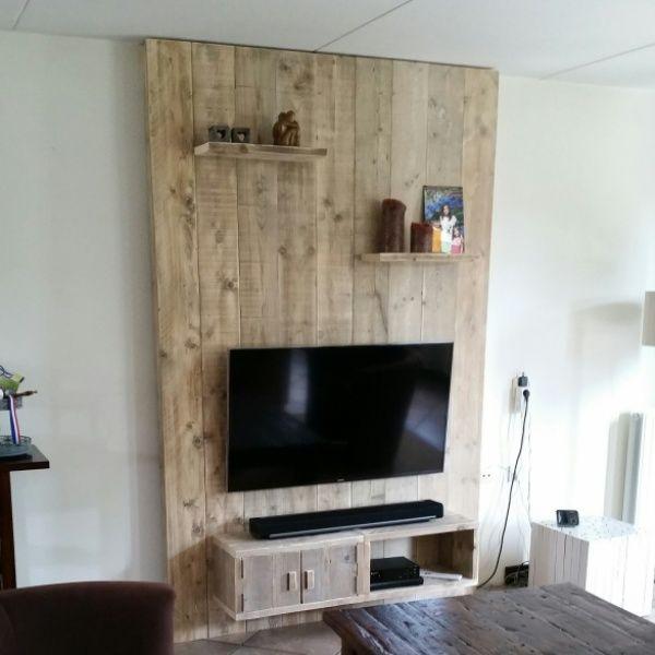 Tv Wand Type 2 Wanden Woonkamer Decoratie Huiskamerideeen