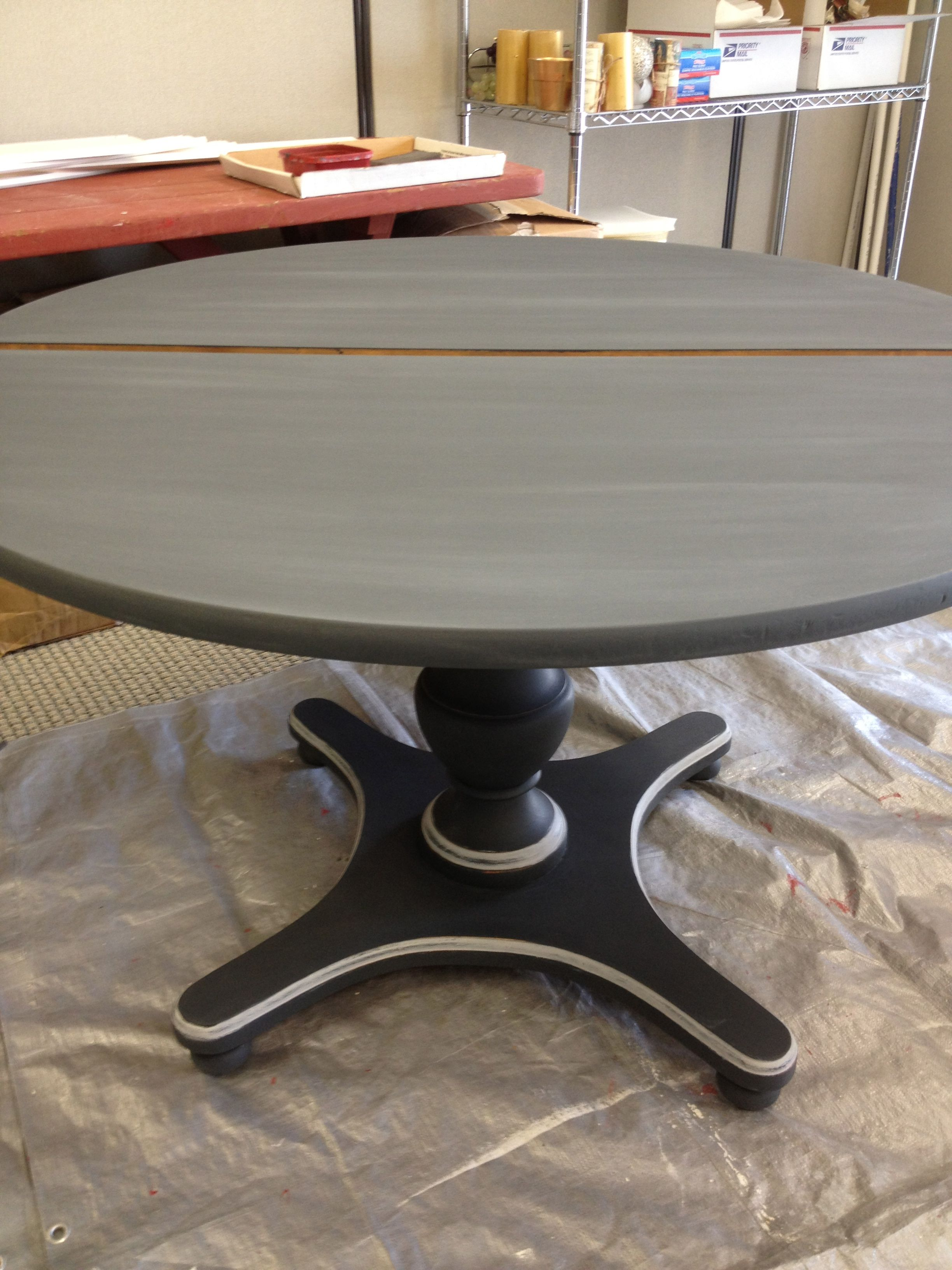 Yes I Painted Over A Formica Table Top Sold Dining Table Redo Shabby Chic Dining Tables Kitchen Table Makeover