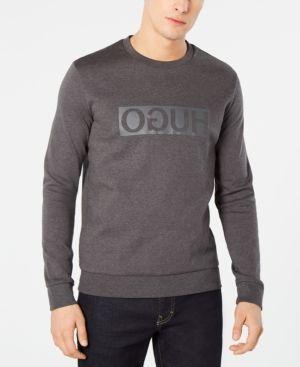 1f9d2039 Hugo Men's Backward Logo Sweatshirt - Gray M | Products | Hugo men ...