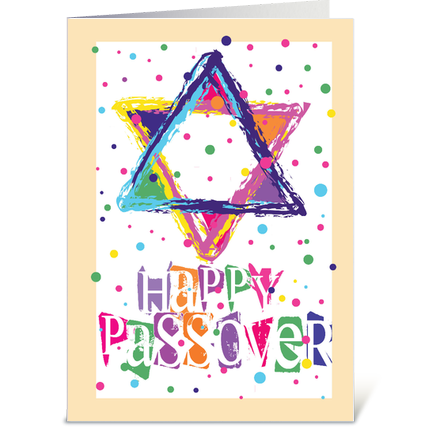 Brightcolorful and festive design celebrating passover star of personalize and mail the greeting card passover celebrationdesigned by blackdiamondart m4hsunfo Image collections