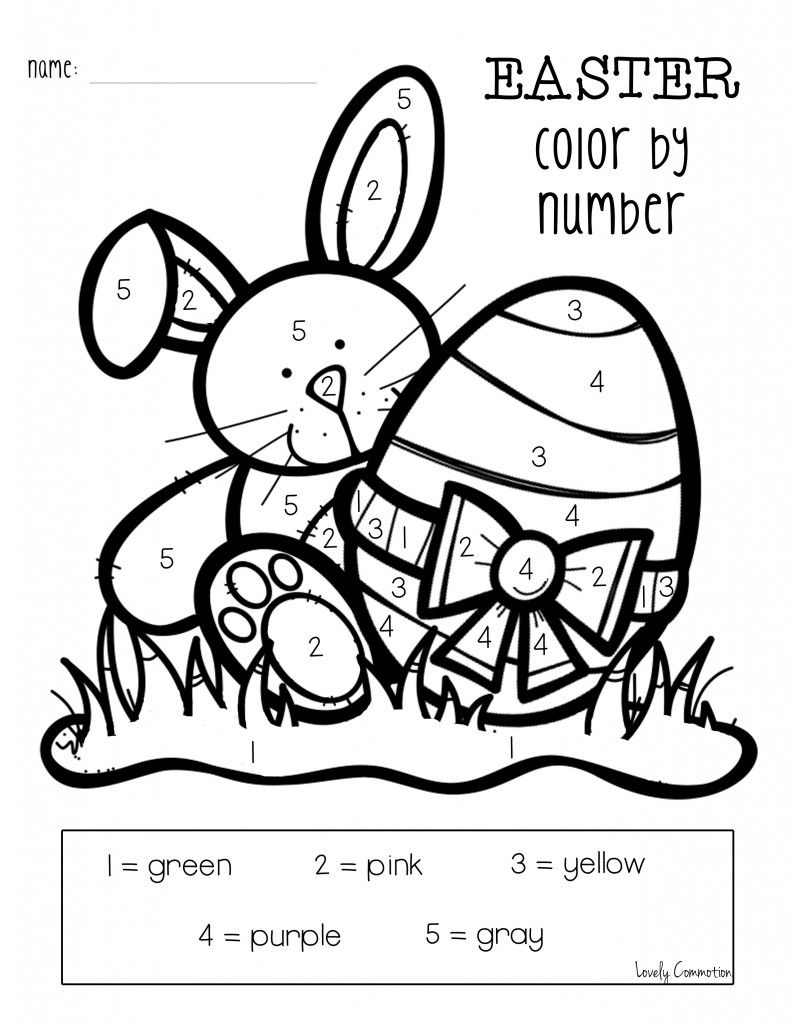 Easter freebie   KindergartenKlub.com   Easter colors ...   free printable easter coloring pages for kindergarten