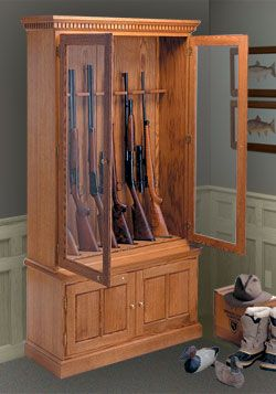 Gun Cabinet Diy Pinterest Cabinet Plans Gun Cabinet Plans And