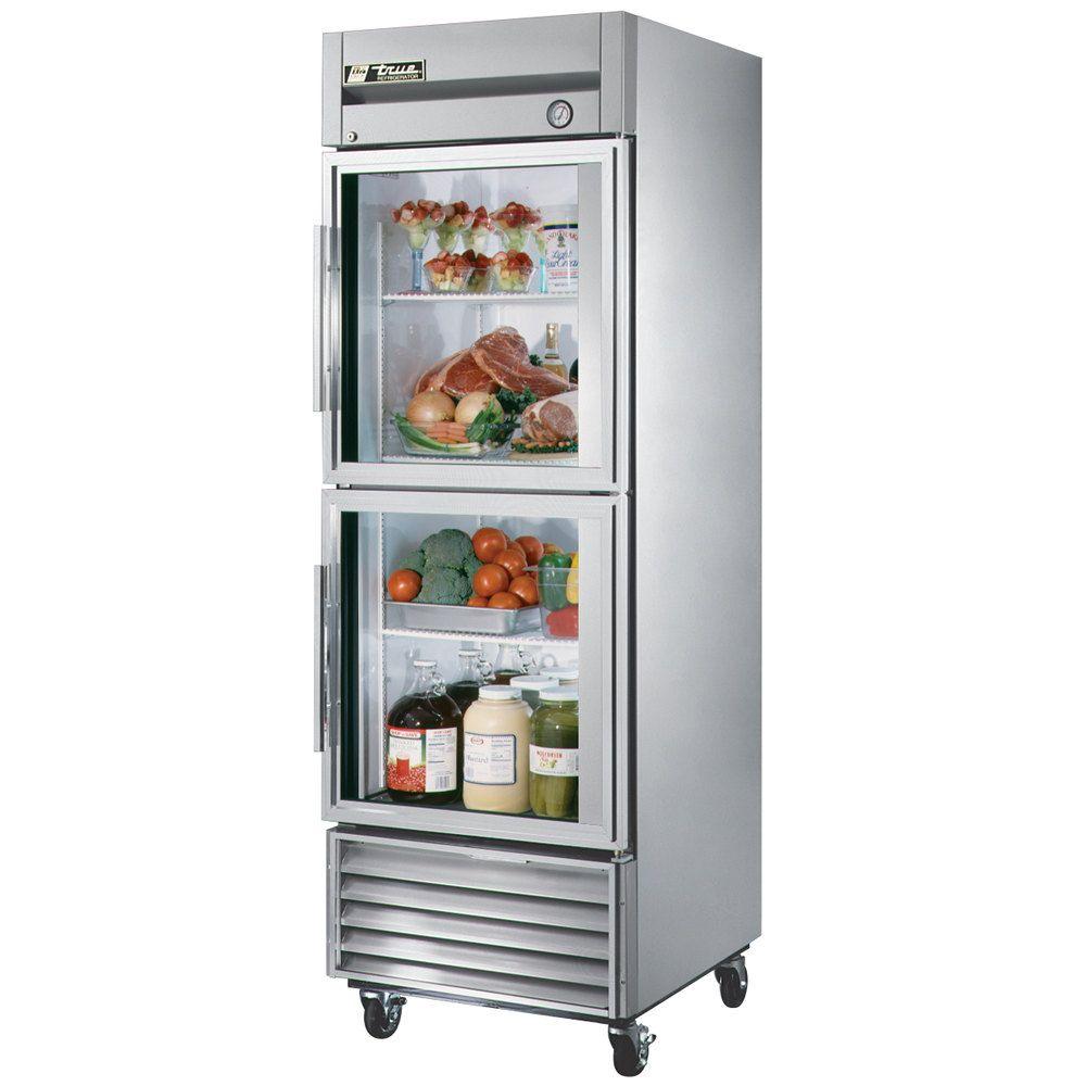 True T 23g 2 Single Section Glass Half Door Reach In Refrigerator Half Doors Double Door Refrigerator Refrigerator