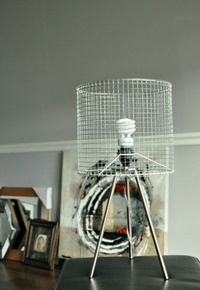 Diy chicken wire lampshade lamps lighting pinterest wire diy chicken wire lampshade greentooth Image collections