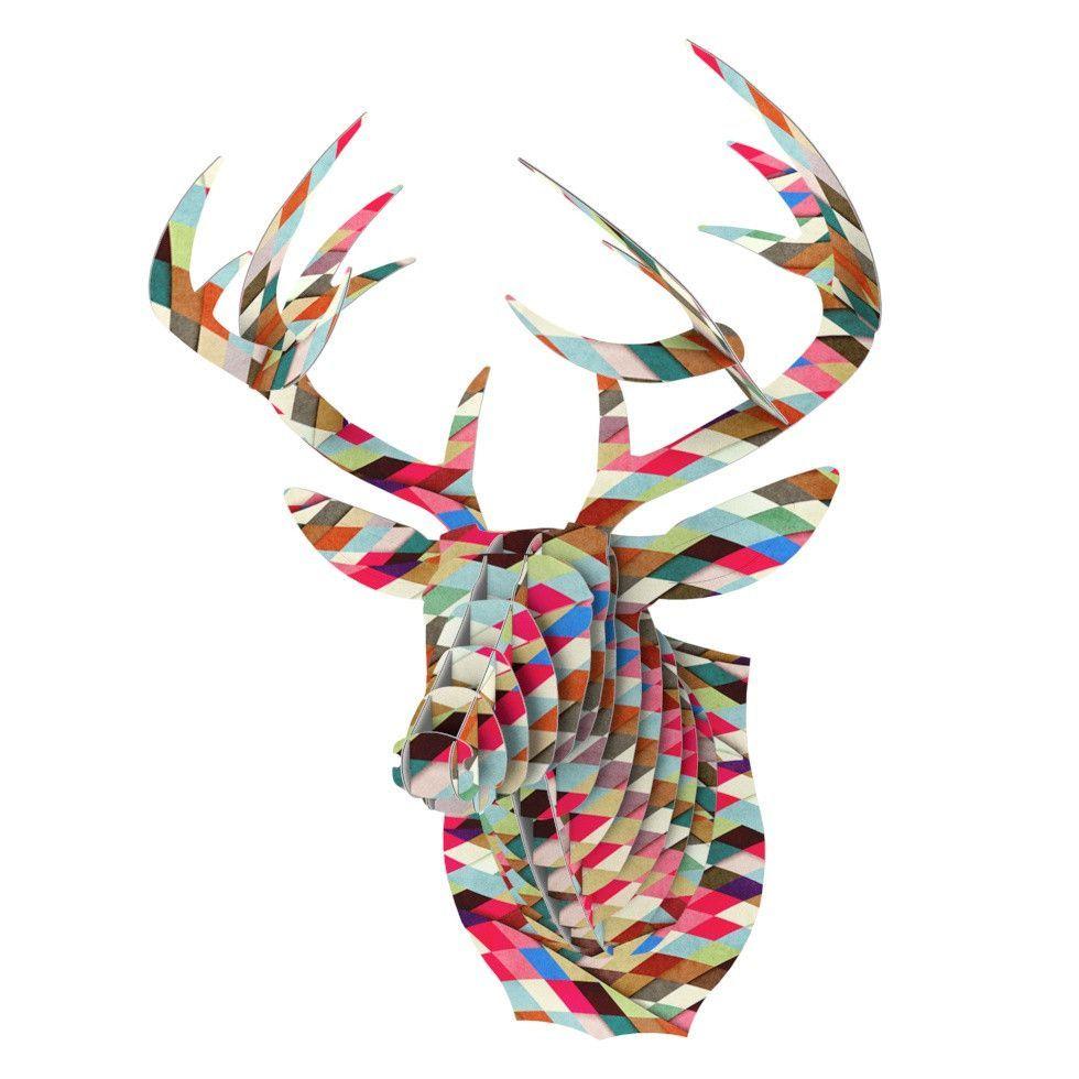 """Danny Ivan """"Adored"""" Art Object Bucky Deer Bust Jr."""