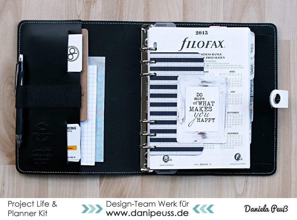 Filofax Deko mit dem Februar Project Life & Planner Kit | DT Werk für www.danipeuss.de