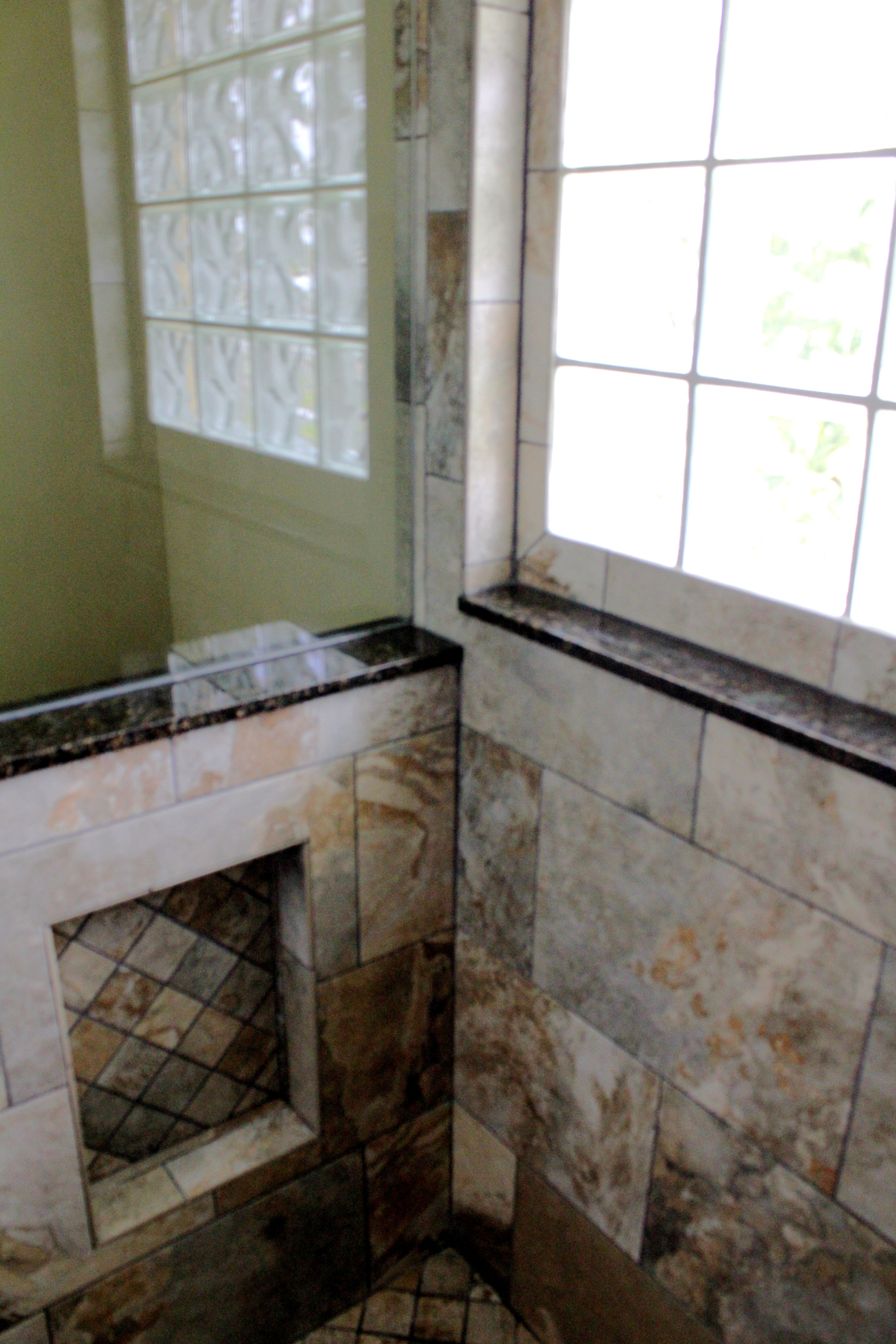 redoing bathroom%0A A niche is a must in a shower to hide your shampoo and conditioner  It