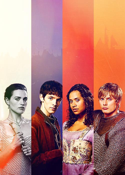 Morgana, Merlin, Gwen, & Arthur