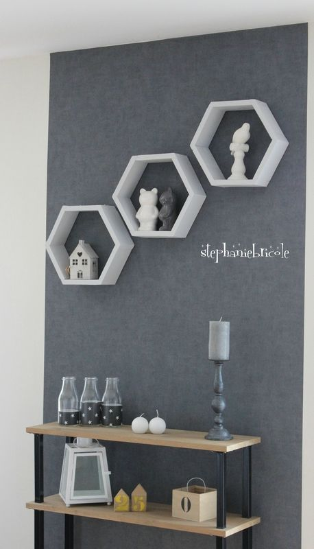Diy deco bois des étagères hexagonales stéphanie bricole