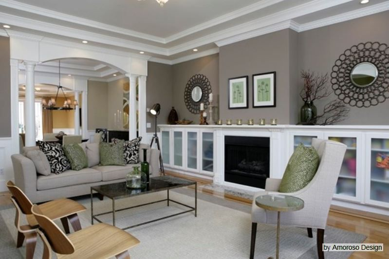 C B I D Home Decor And Design Good Greige Choices Home Contemporary Living Room Living Room Colors #taupe #living #room #walls
