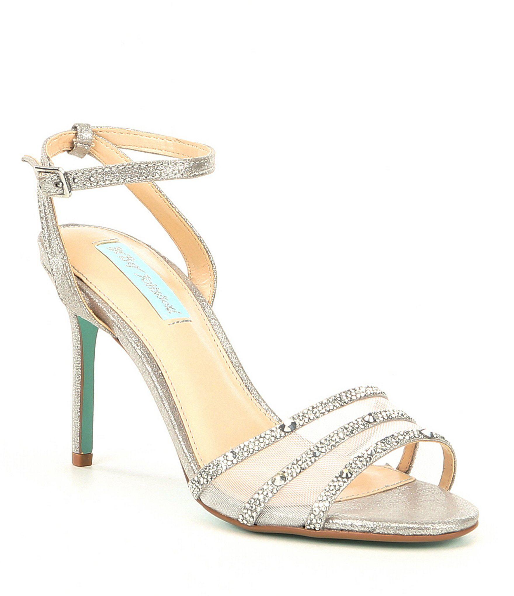 f99dab66070 Blue by Betsey Johnson Veda Jeweled Mesh Dress Sandals  Dillards