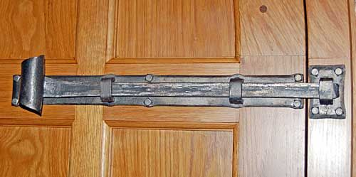 Extra Large Sliding Bolt Forged In Genuine Wrought Iron