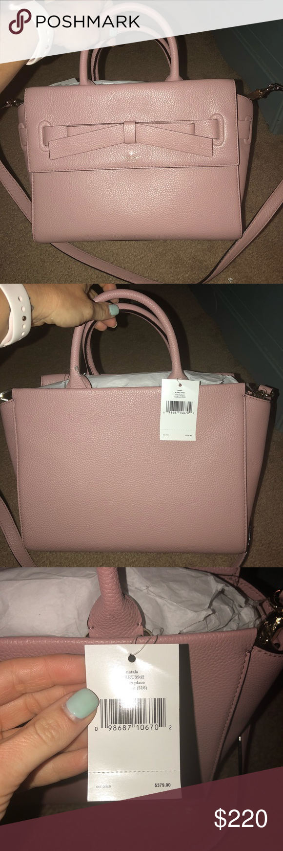 fb4263fb7e3d Kate Spade Natala Avalon Place Brand new beautiful Kate Spade purse. The  color is rose frost. So pretty in person. kate spade Bags Totes