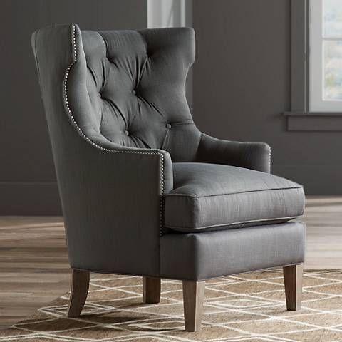 Reese Studio Charcoal High Back Accent Chair 8g312 Lamps Plus