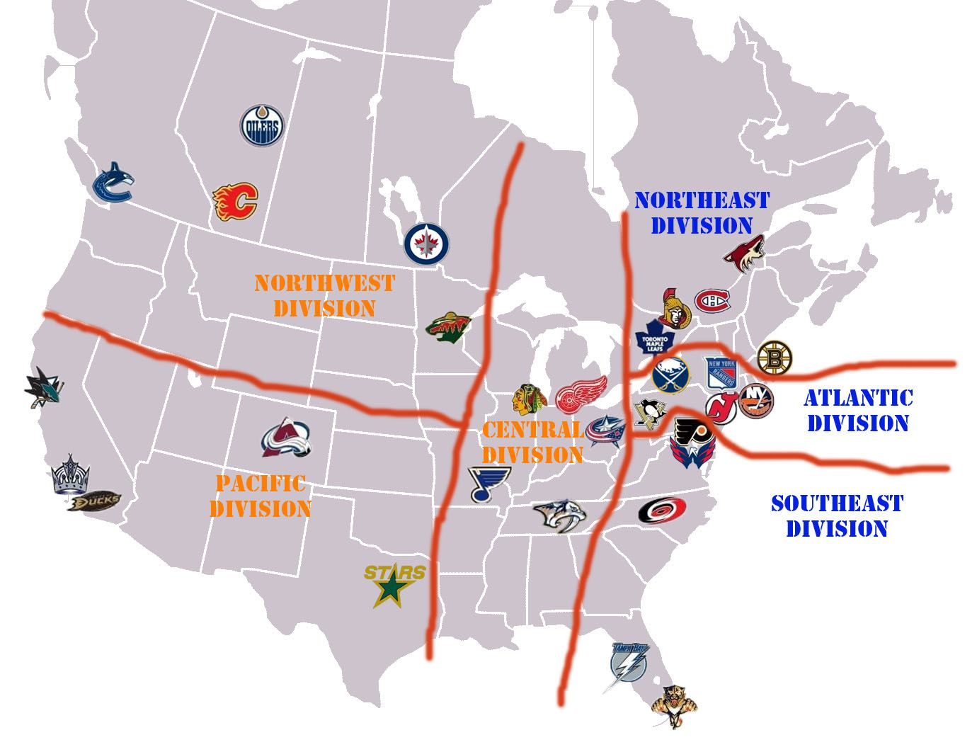 Map Of Nhl Arenas This Map Already Has The Coyotes Playing In Quebec City Ken Dryden Nhl Dryden