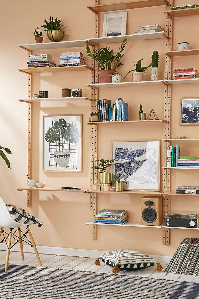 Brisbane Wood Storage System Wall Shelving Units Cozy Apartment Decor Unique Wall Shelves