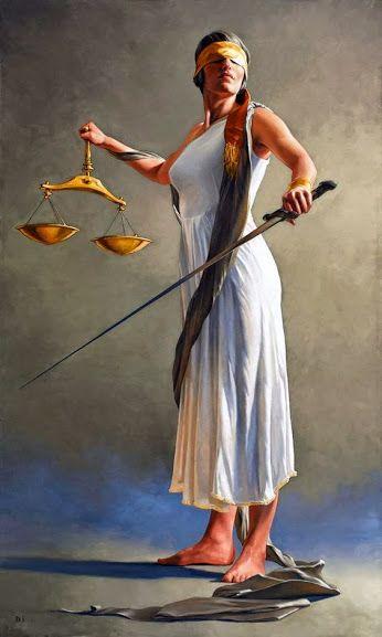 🎨 Artiste peintre : Bryan Larsen ♢ La justice | Classical realism, Art,  Lady justice