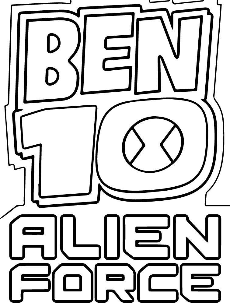 Ben 10 Alien Force Logo Coloring Page | Pinterest | Ben 10 alien force