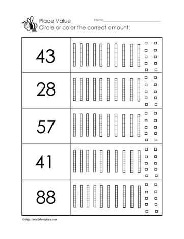 Place Value To  Worksheets  School  Math Ideas