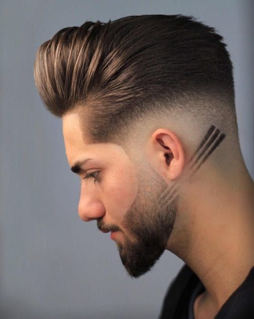 Haircut Line On Side : haircut, Hairstyles, Design, Haircut, Styles,, Haircuts, Beard, Hairstyle
