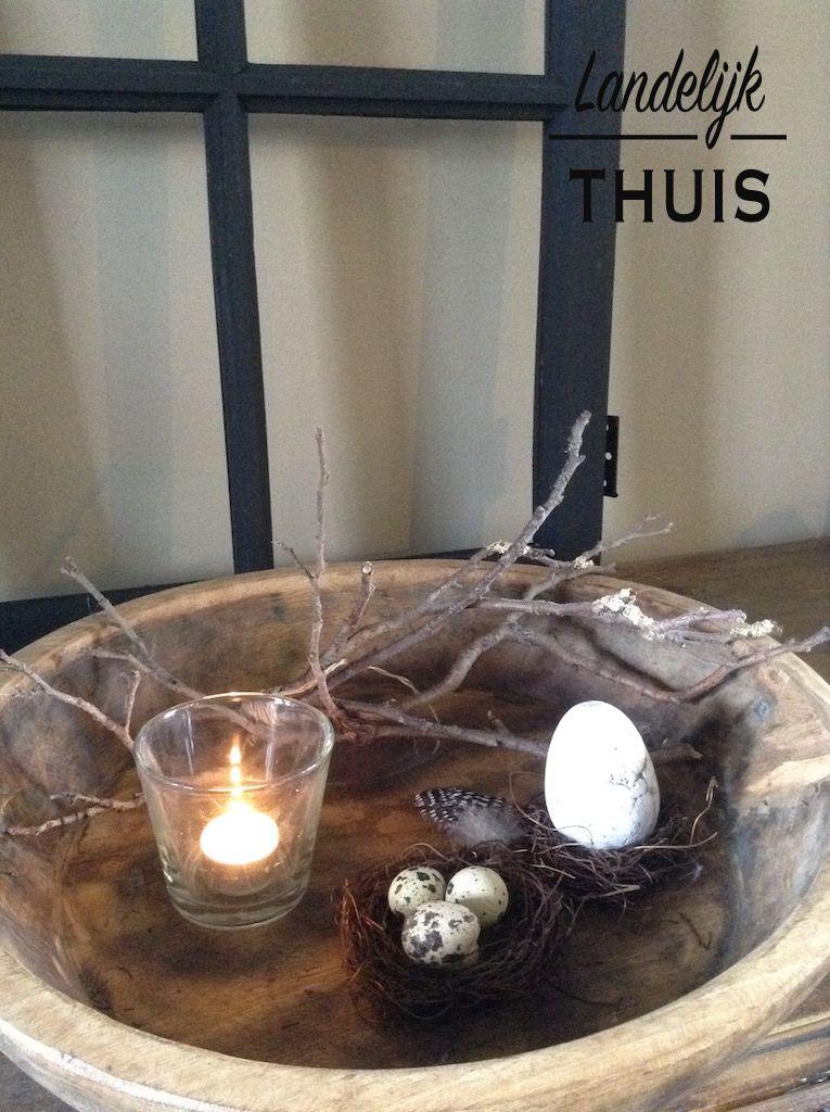Sfeerhoekje Pasen Voorjaar Landelijkestijl Blog Paasdecoratie Pasen Paasfeest