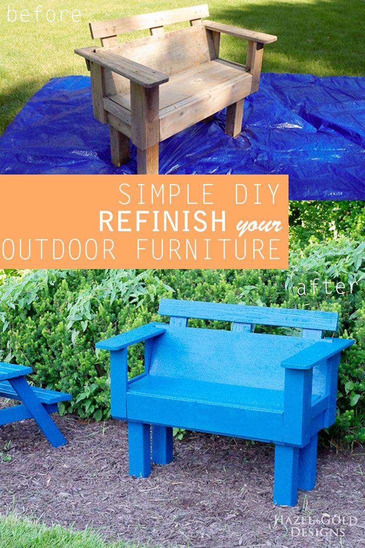 Diy refinish your outdoor furniture cheap patio