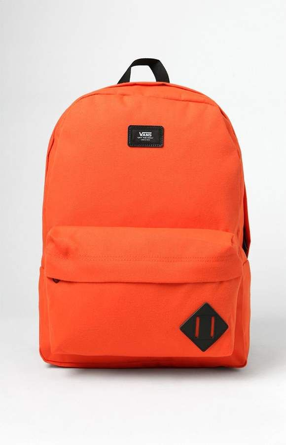Old Skool II Orange Backpack #pocket#padded#accessory
