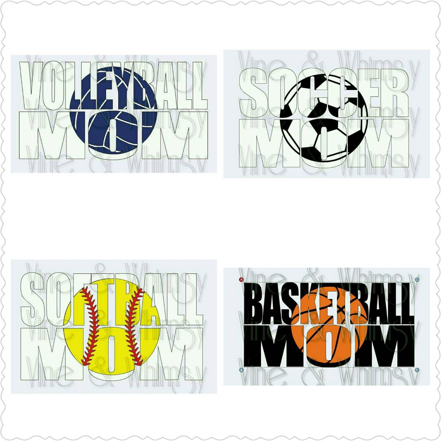 Football Mom Dance Mom Cheer Mom Car Decal Bumper Sticker - Personalized car stickers and decals