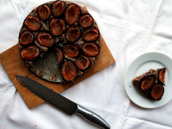 Slivkovo-makový koláčik