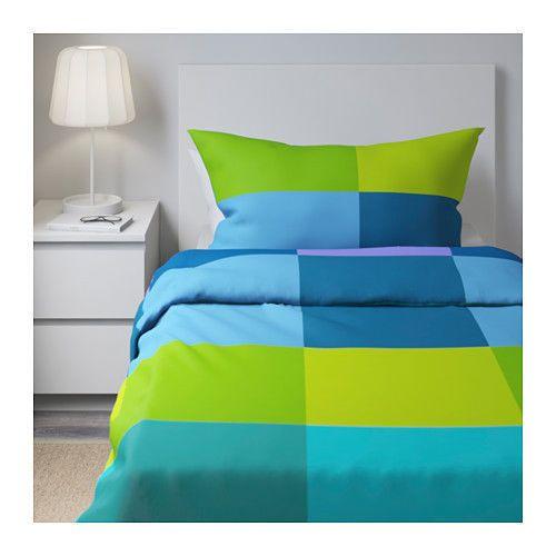 Ikea Brunkrissla Twin Duvet Cover Pillowcase Minecraft Blue Green New Ikea Minecraft Bettdeckenbezug Ikea Bettbezug