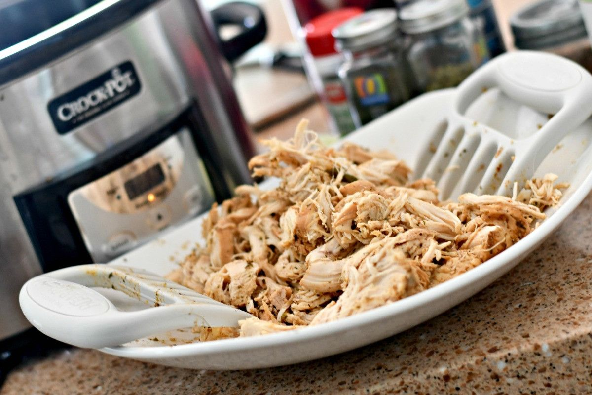 Keto Slow Cooker Shredded Chicken Tacos #shreddedchickentacos