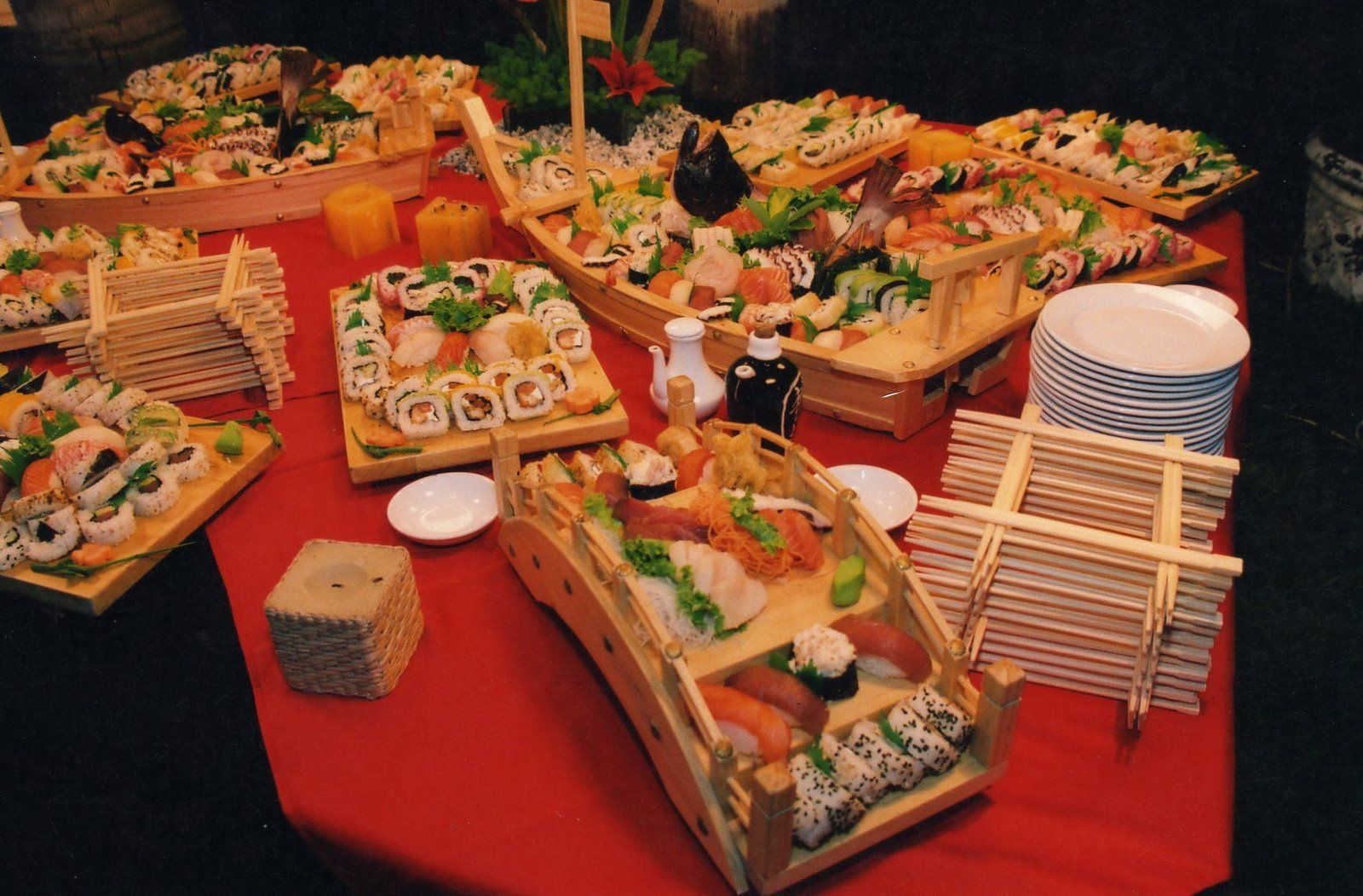 Danitza pavlich catering mesa japonesa comida - Mesas japonesas ...