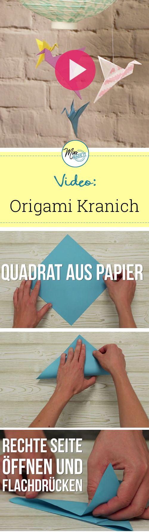 Origami Kranich basteln und zum Fliegen bringen