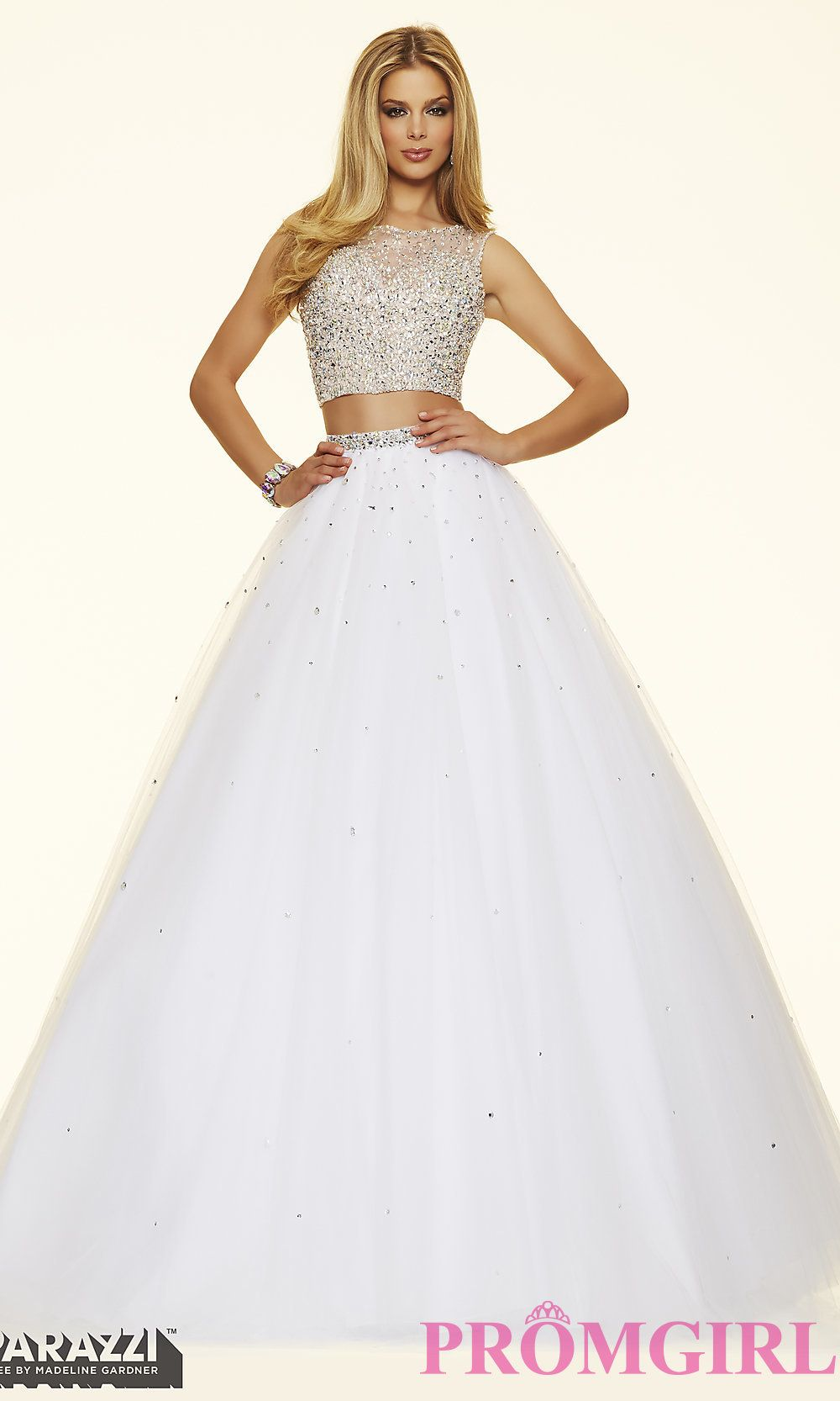 b6f0ff1207 Prom dresses by Paparazzi Prom 2 Piece Crystal Beaded Tulle Ball Gown  Zipper Back Closure. Colors Available  Aqua