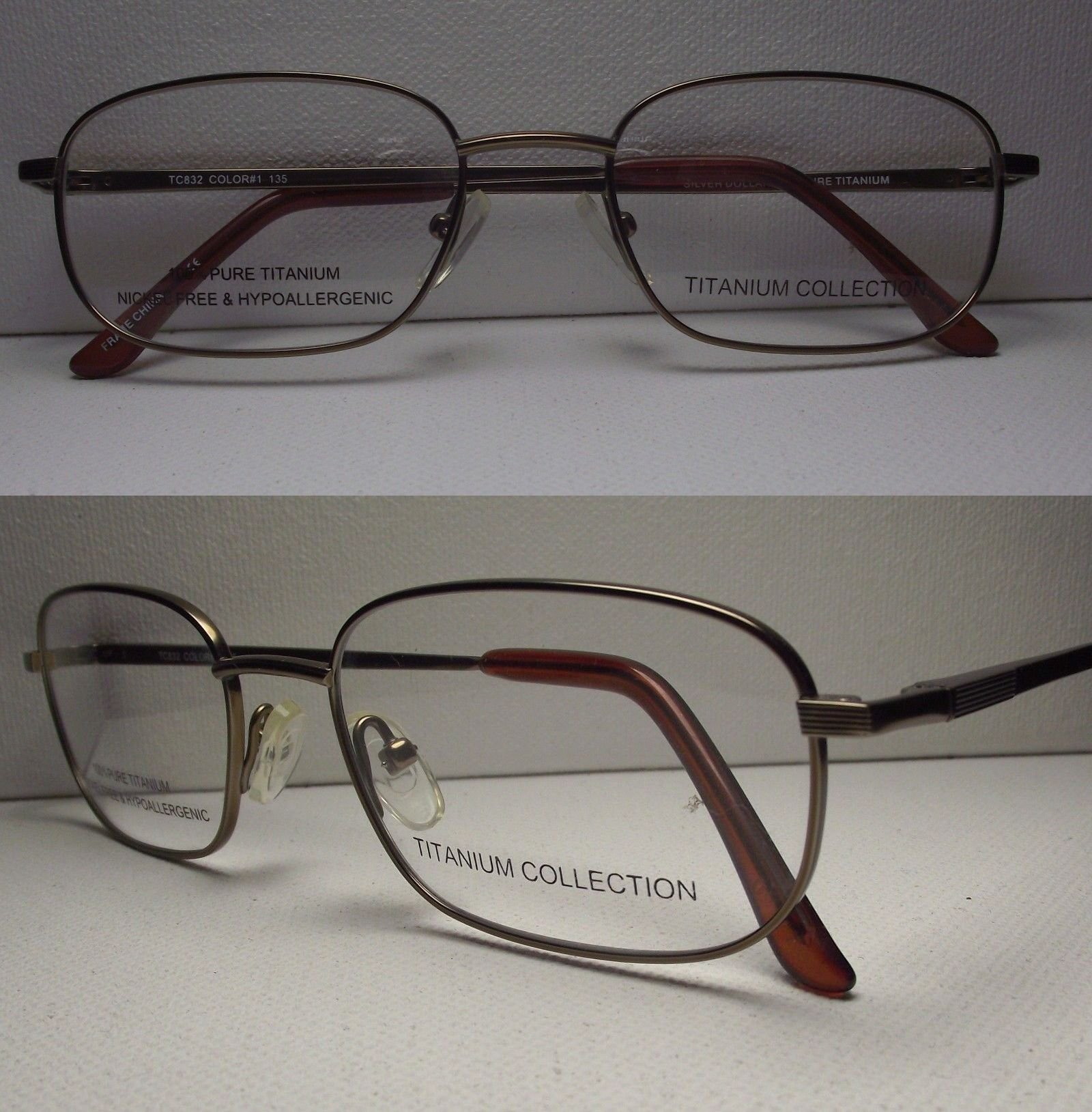 fashion eyewear clear glasses 179240 mens eyeglass frame titanium buy it now - Ebay Eyeglasses Frames