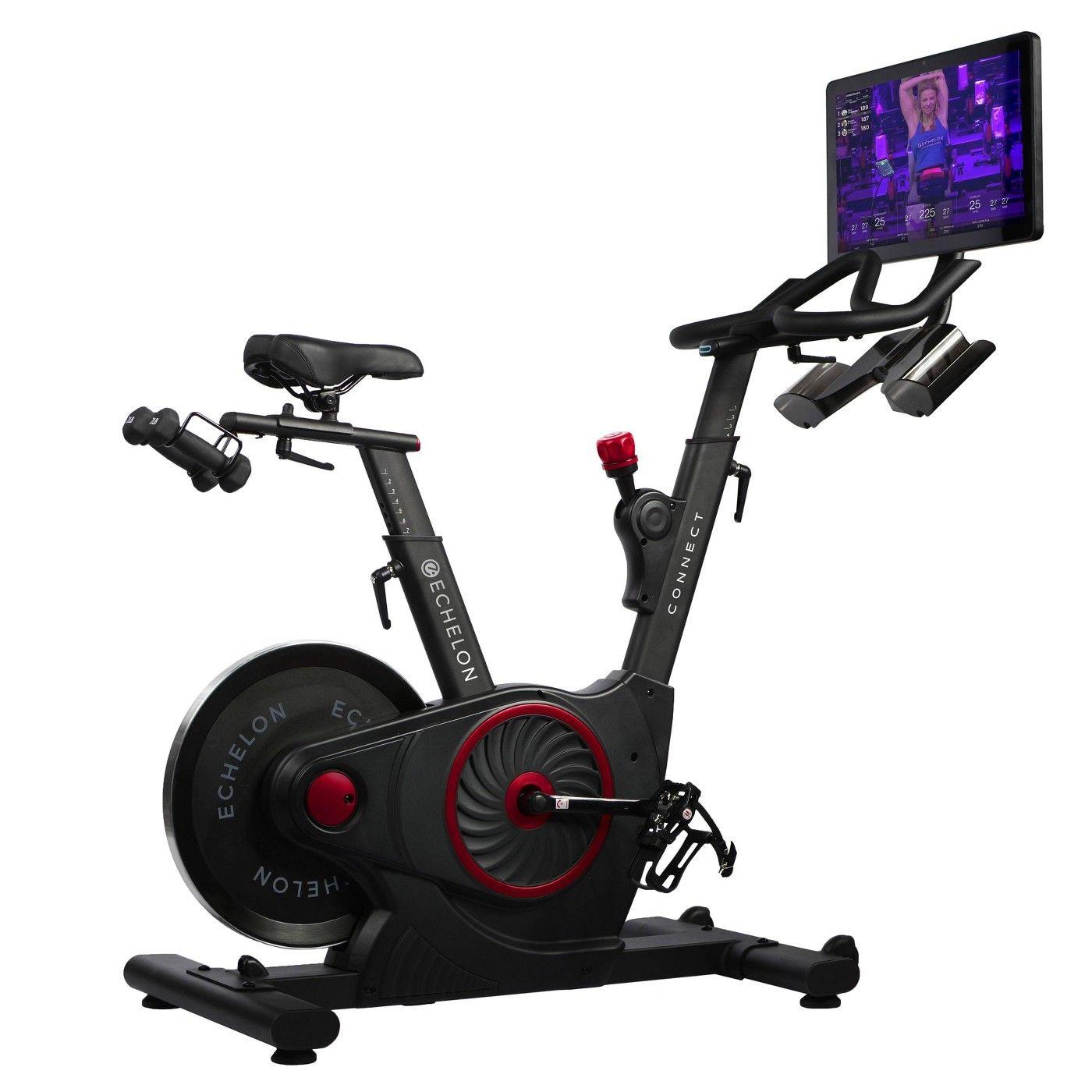 Echelon Ex5s Connect Bike Black In 2020 Biking Workout Bike Black And Red