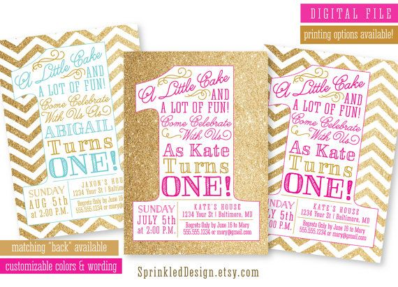 First Birthday Party Invitation - 1st Bday Blush Pink Gold Glitter - invitation for 1st birthday party girl